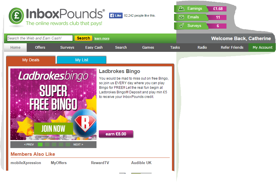 Inboxpounds example