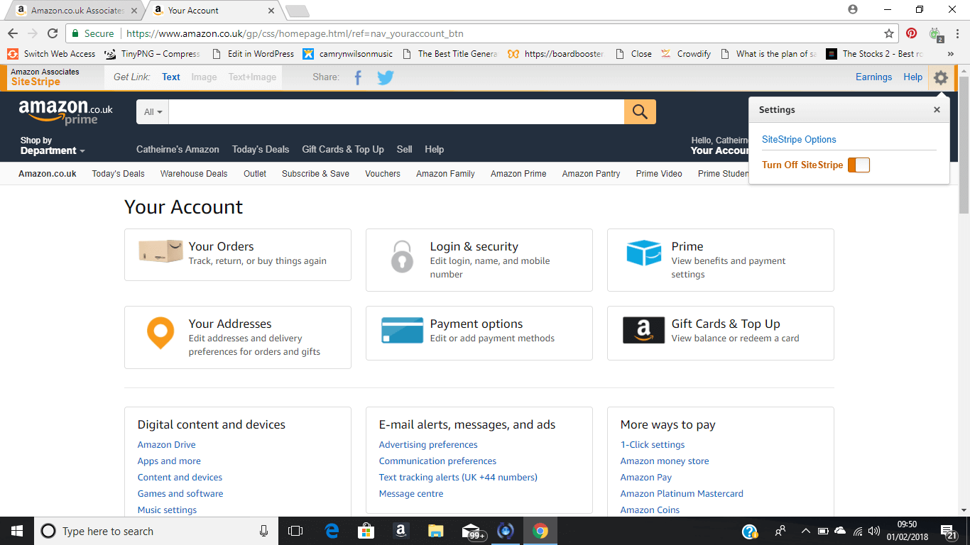 Amazon stripe feature