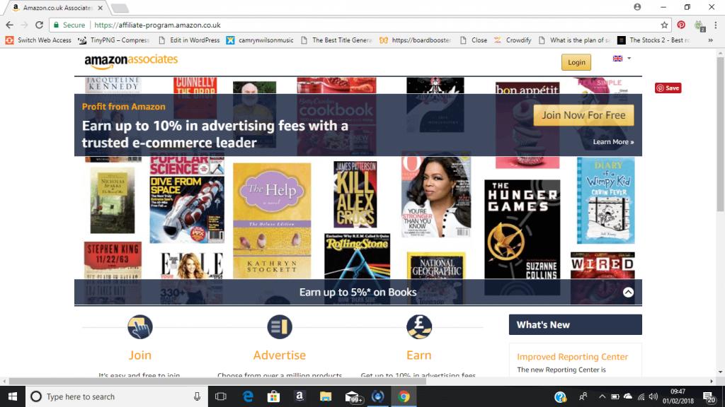 amazon affiliate program sign up